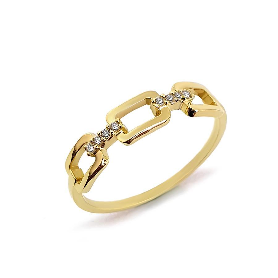 Anel Ouro 18k com 8 Diamantes
