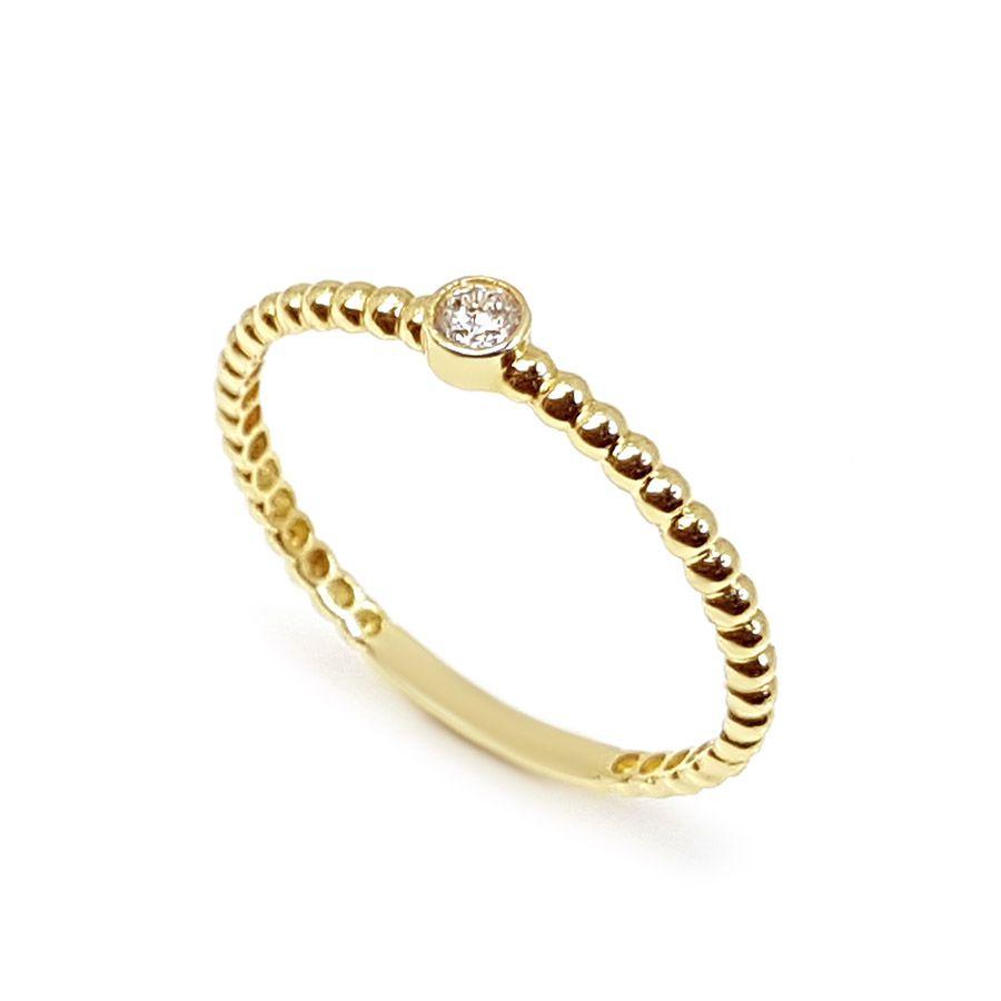 Anel Ouro 18k com Diamante de 5,8 pontos