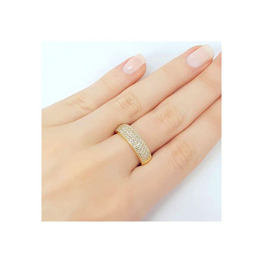 Anel Ouro 18k com Diamantes   - YVES