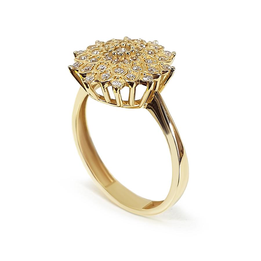 Anel Ouro 18k Flor com 31 Diamantes   - YVES
