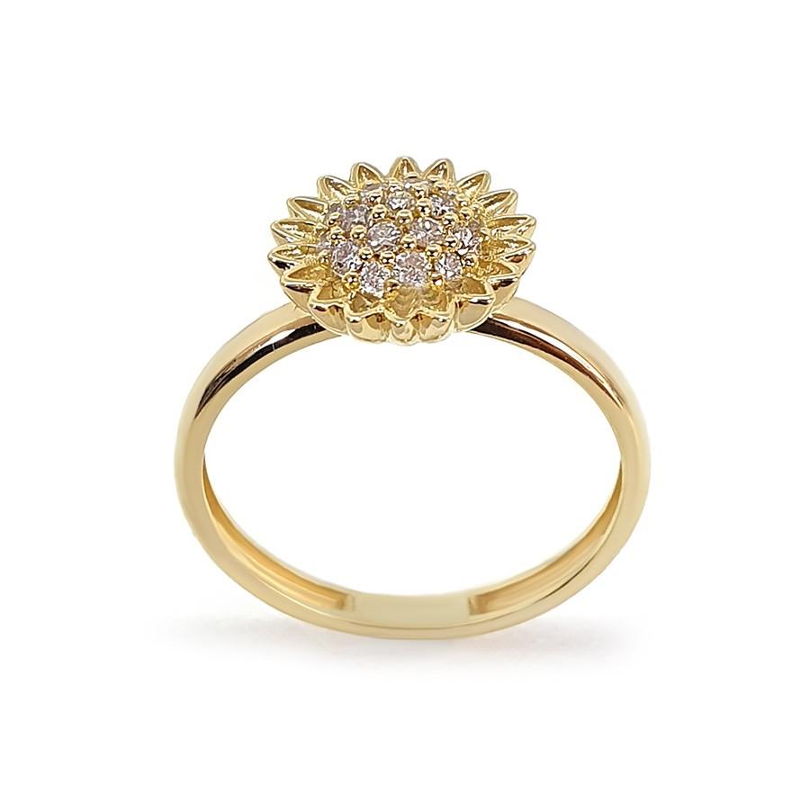 Anel Ouro 18k Girassol com Diamantes   - YVES