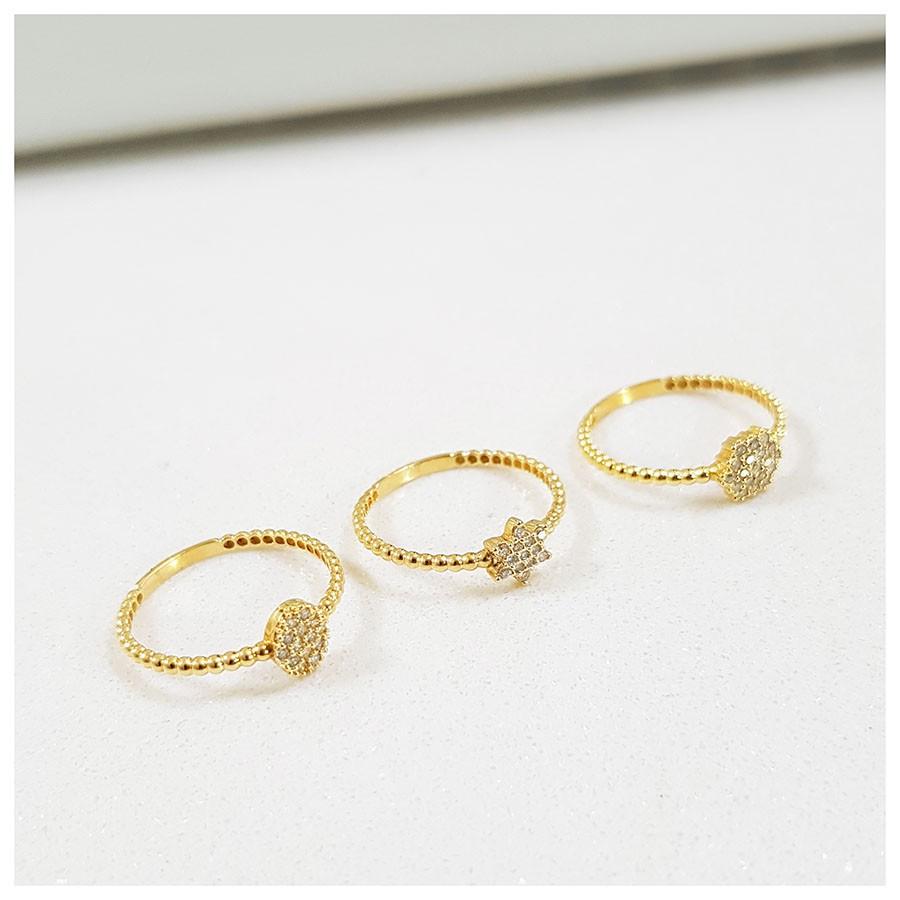 Anel Ouro 18k Oval com Diamantes   - YVES