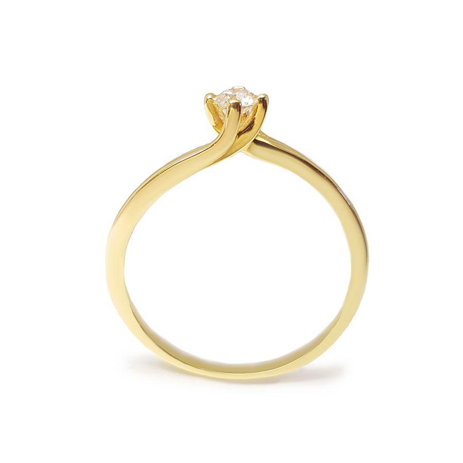 Anel Solitário Ouro 18k com Diamante de 15 pontos  - YVES