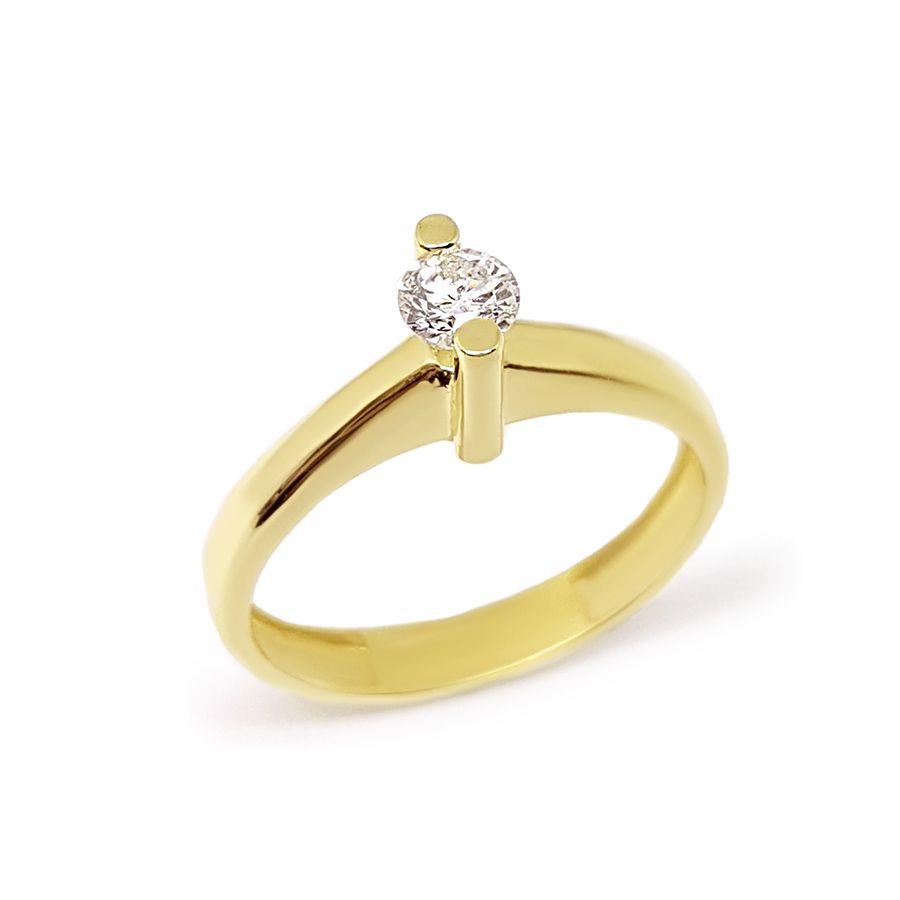 Anel Solitário Ouro 18k com Diamante de 28 pontos  - YVES