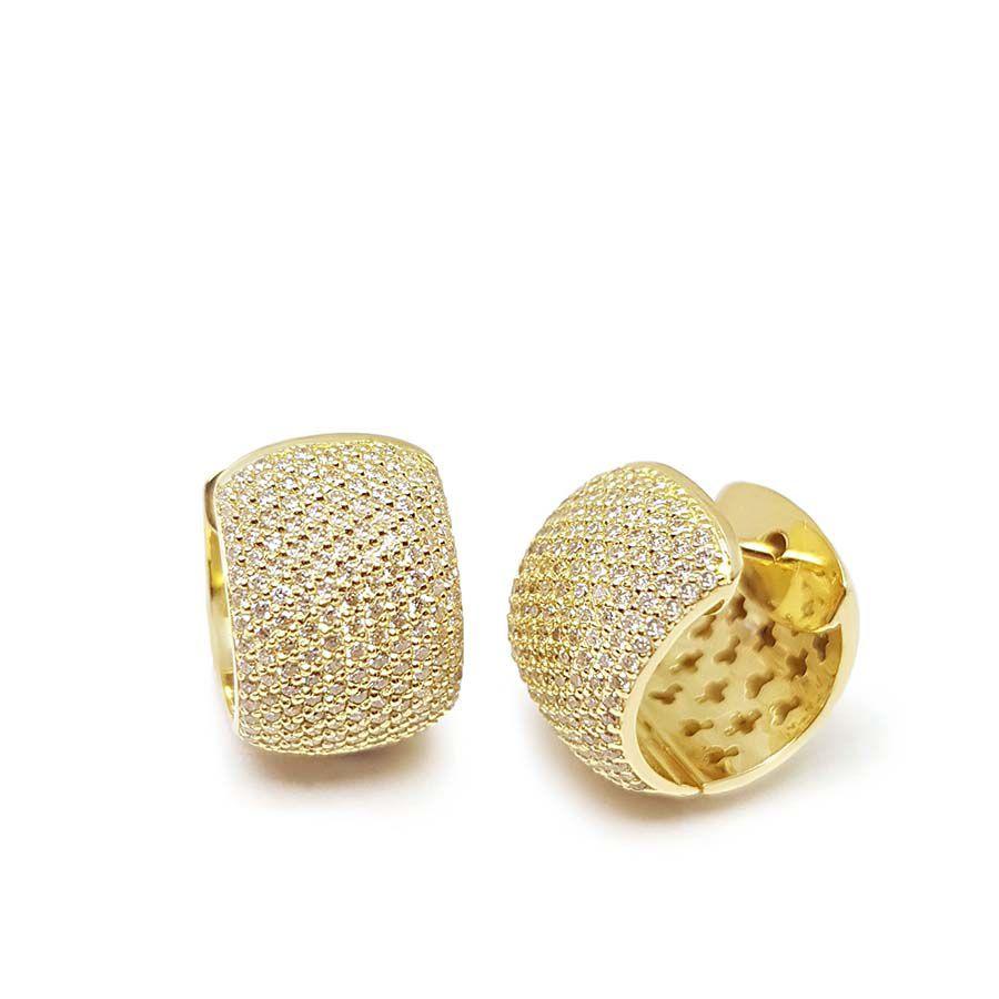 Brinco Argola Ouro 18k com 1,54 quilates em Diamantes