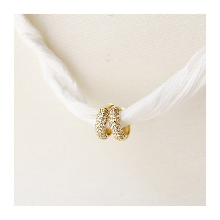 Brinco Argola Ouro 18k com 50 Diamantes  - YVES