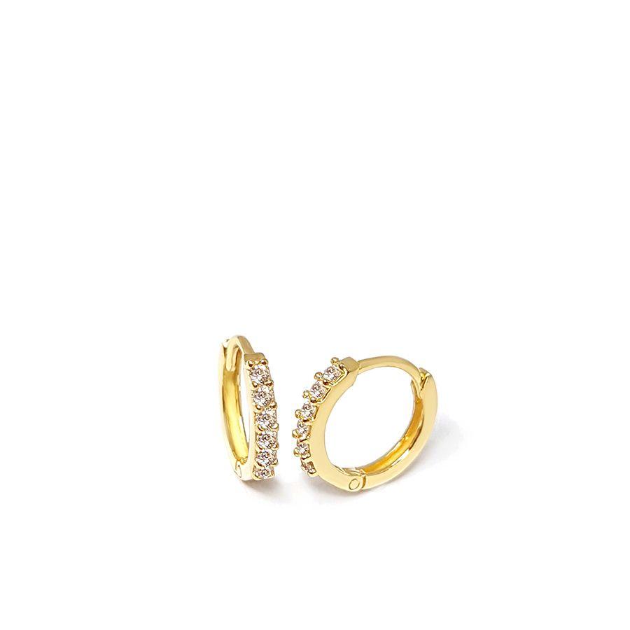 Brinco Argola Ouro 18k com Diamantes