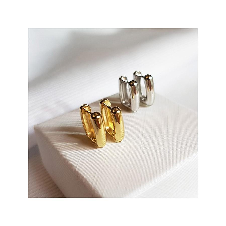 Brinco Argola Quadrado Ouro 18k   - YVES