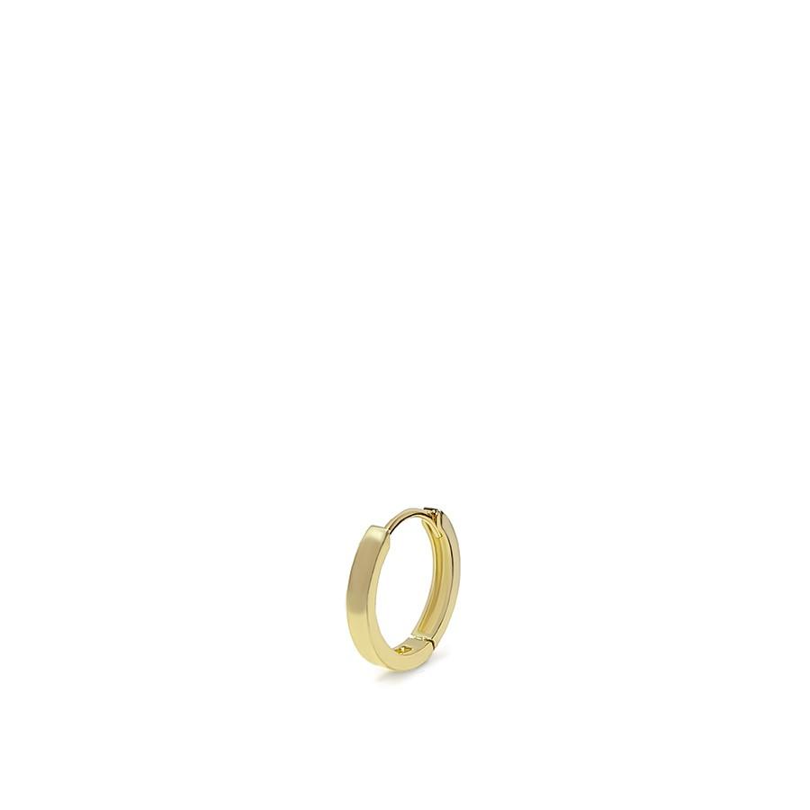 Brinco Argola Única Ouro 18k Pequeno - Unidade/Pé