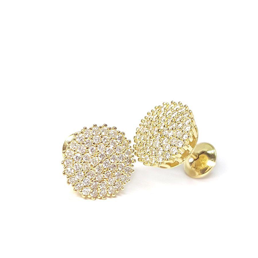 Brinco Chuveiro Ouro 18k com 102 Diamantes