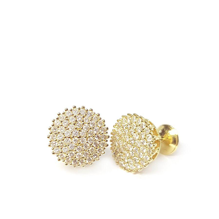 Brinco Chuveiro Ouro 18k com 102 Diamantes    - YVES