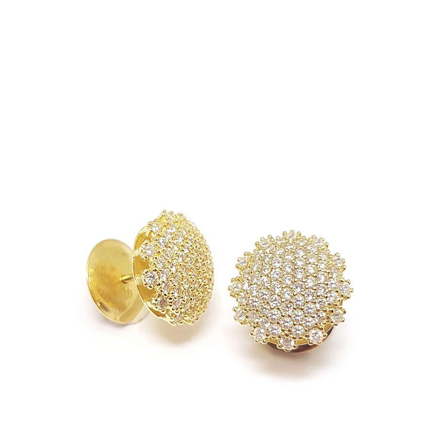 Brinco Chuveiro Ouro 18k com 1 quilate em Diamantes