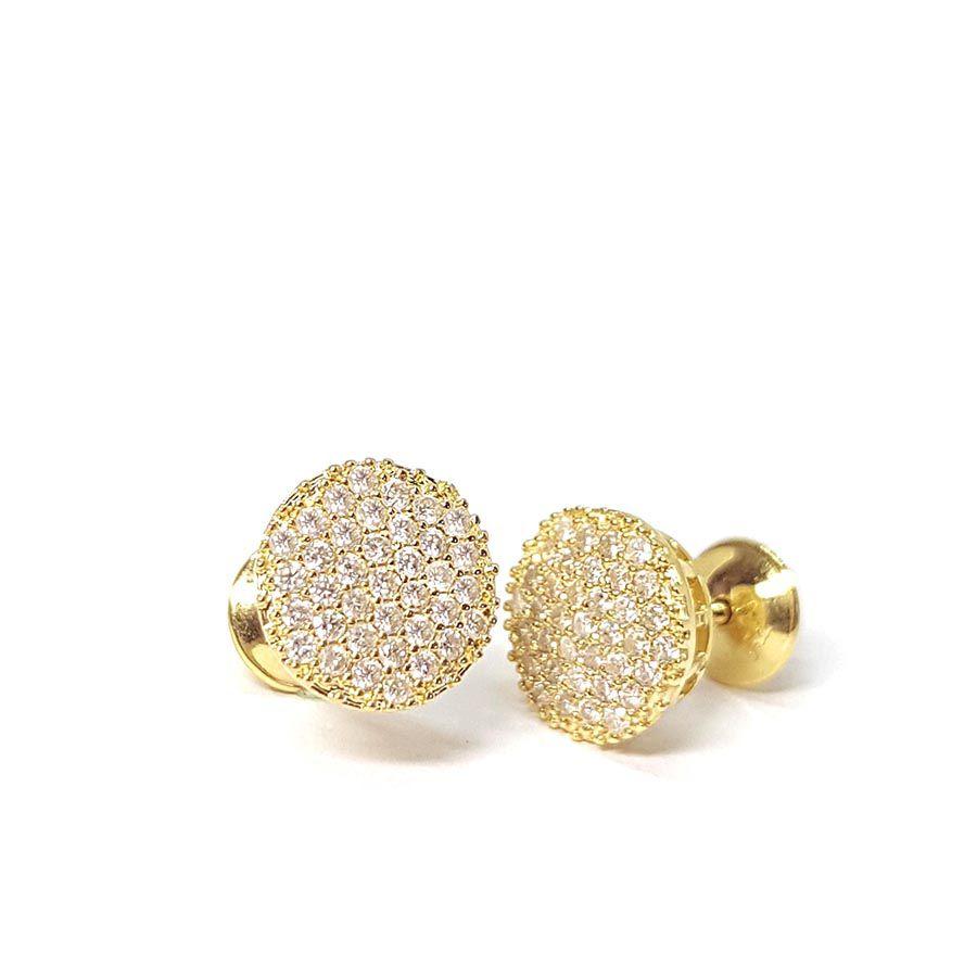 Brinco Chuveiro Ouro 18k com 74 Diamantes
