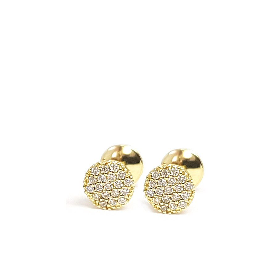 Brinco Chuveiro Ouro 18k com Diamantes  - YVES