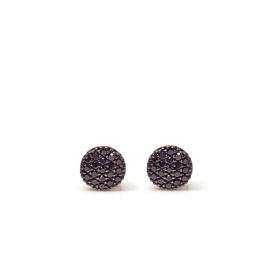 Brinco Chuveiro Ouro 18k com Diamantes Negro  - YVES