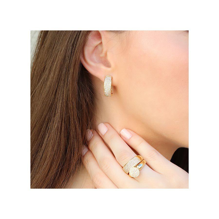 Brinco Ouro 18k com 166 Diamantes  - YVES