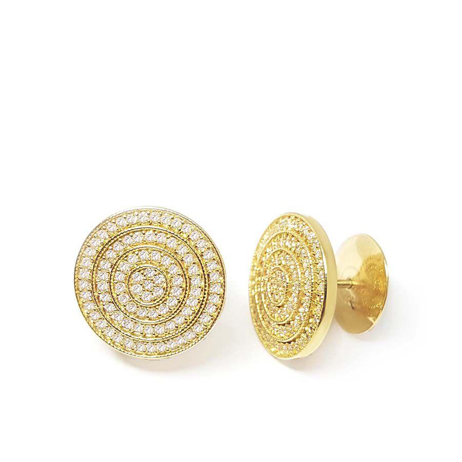 Brinco Ouro 18k com 170 Diamantes    - YVES
