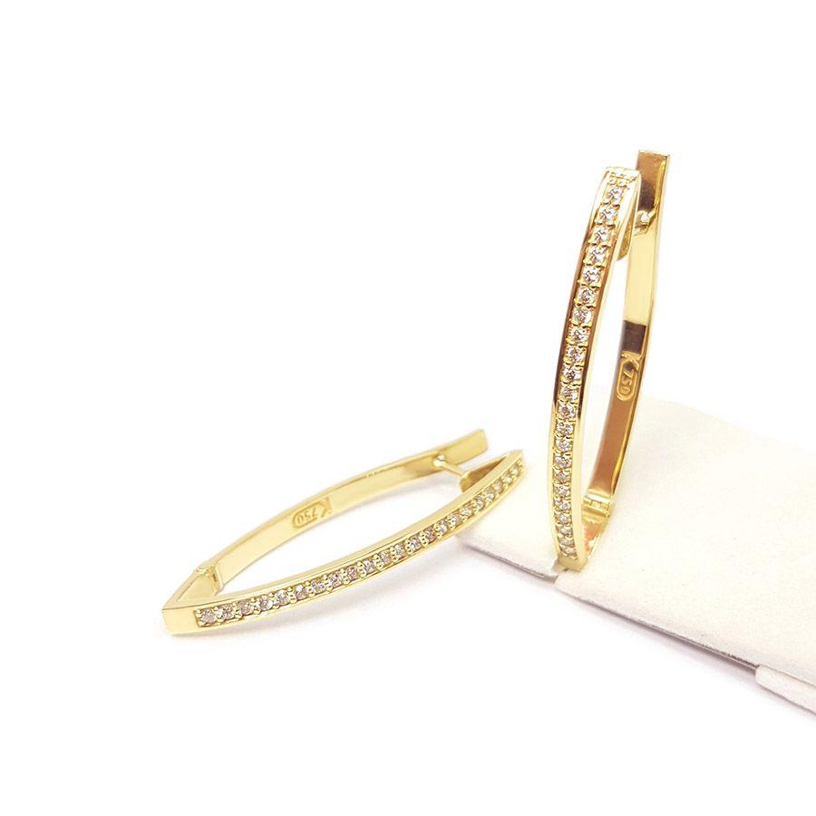 Brinco Ouro 18k com 44 Diamantes  - YVES