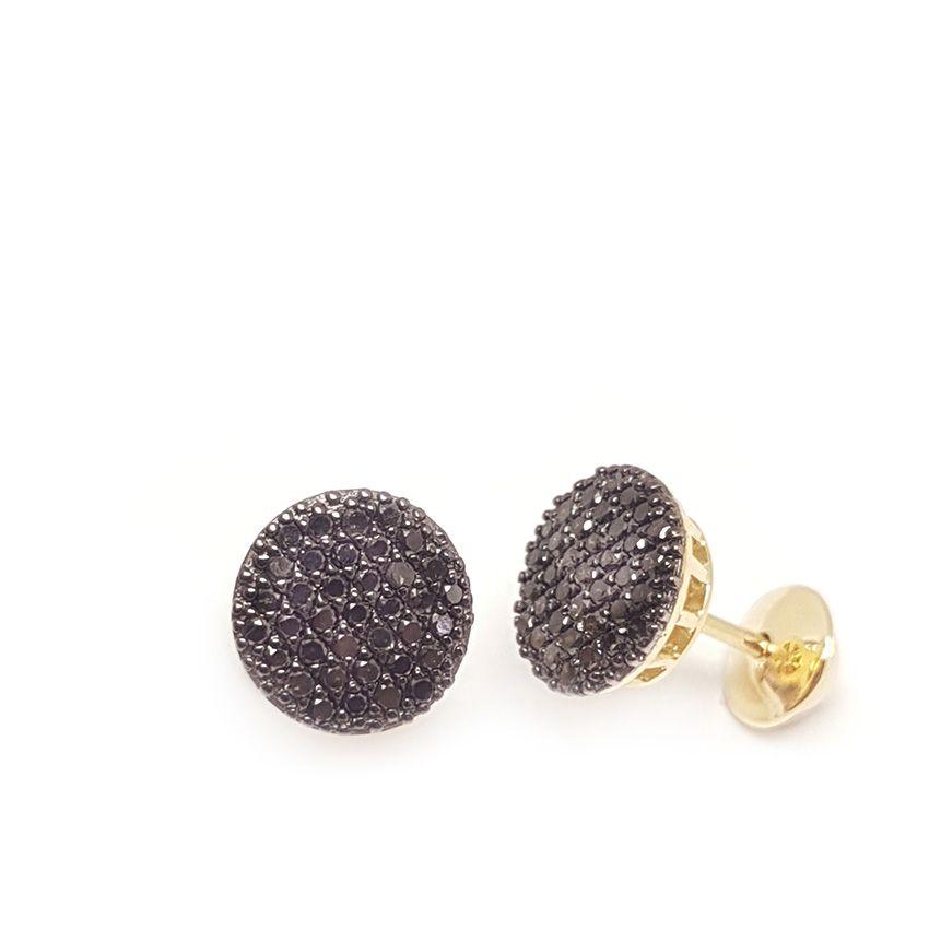 Brinco Ouro 18k com Diamantes Negro  - YVES