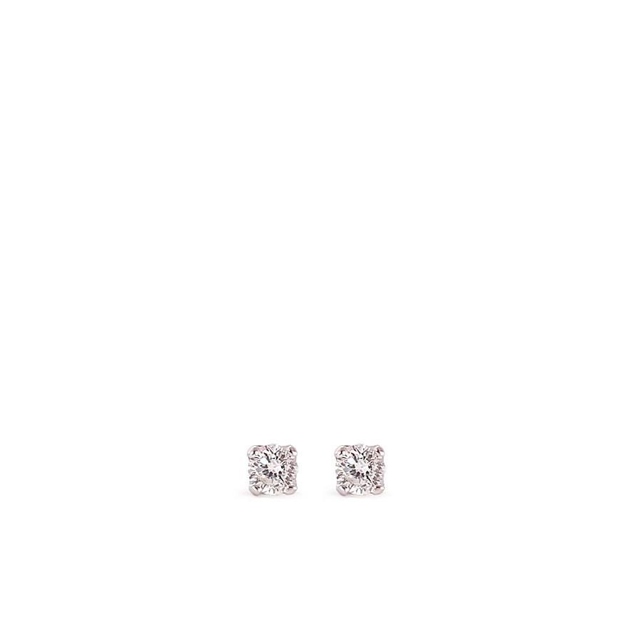 Brinco Ouro 18k Ponto de Luz com Diamante de 6 pontos  - YVES