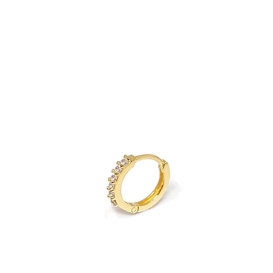 Piercing Argola Ouro 18k com Diamantes
