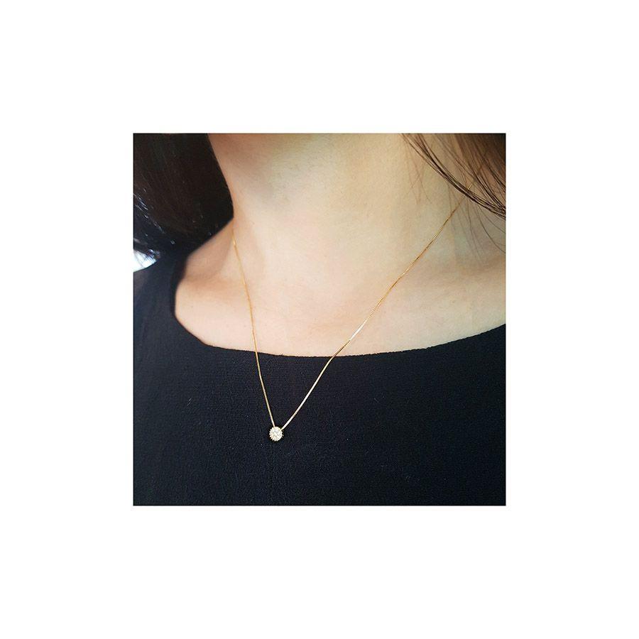 Conjunto Anel Brinco Pingente Ouro 18k Chuveirinho com Diamantes   - YVES