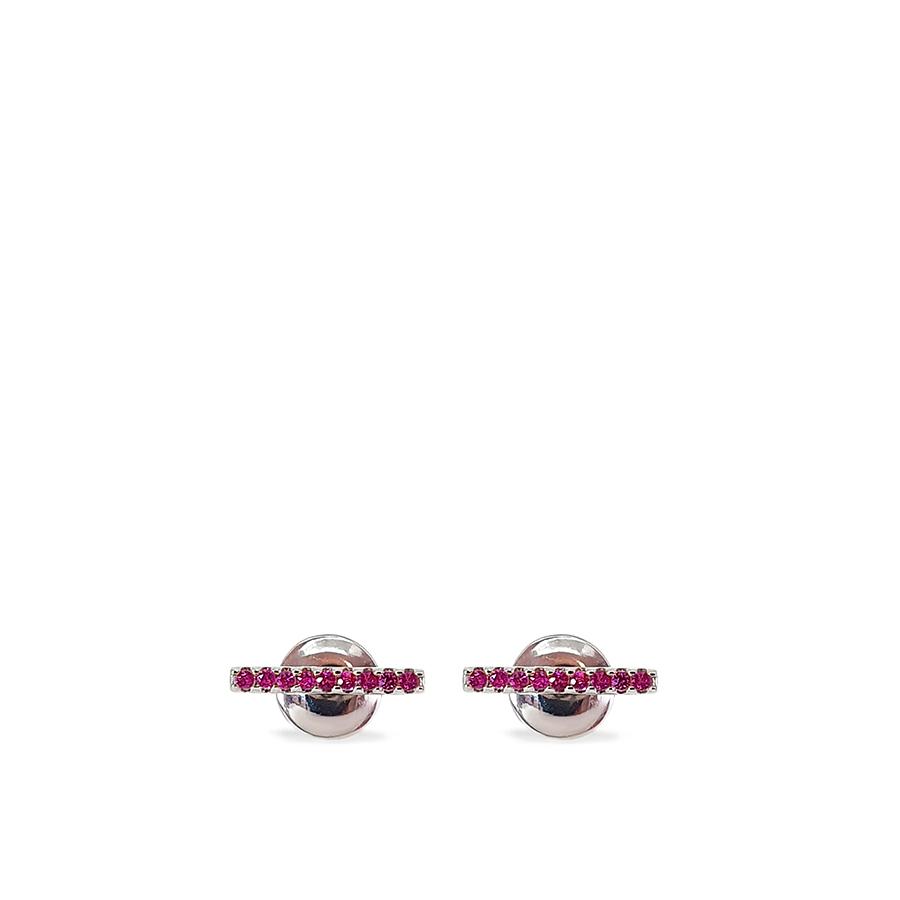 CÓPIA - Brinco Ouro 18k Trave Pequena com Rubis