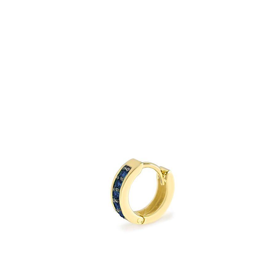 Piercing Argola Ouro 18k com 5 Safiras