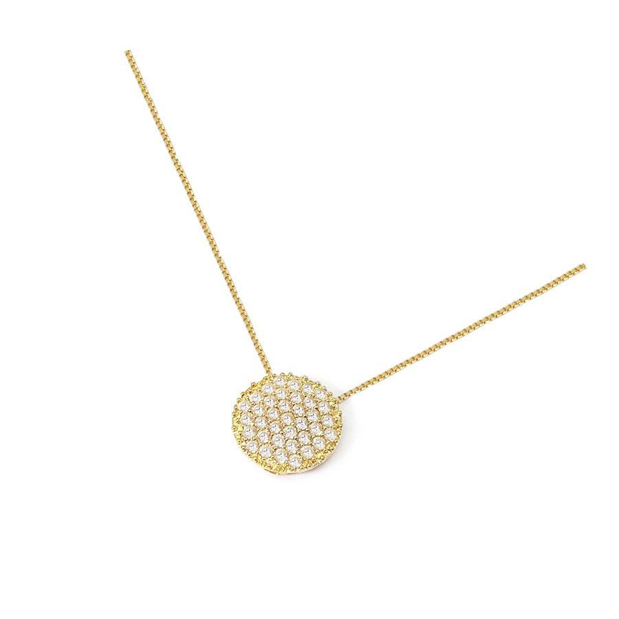 Corrente Com Pingente Ouro 18k com 37 Diamantes