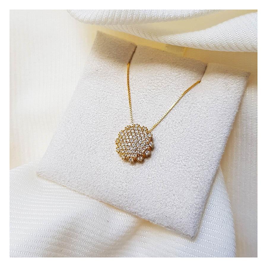 Corrente com Pingente Ouro 18k com 67 Diamantes  - YVES
