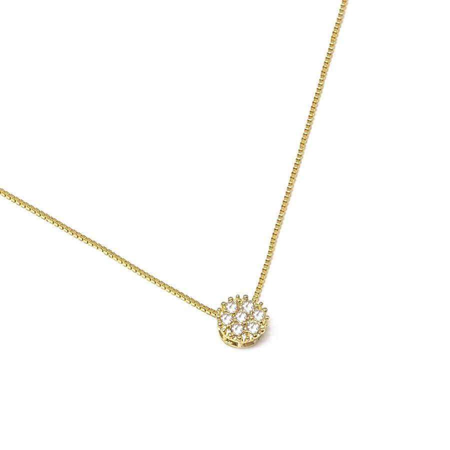 Corrente Com Pingente Ouro 18k com 7 Diamantes   - YVES