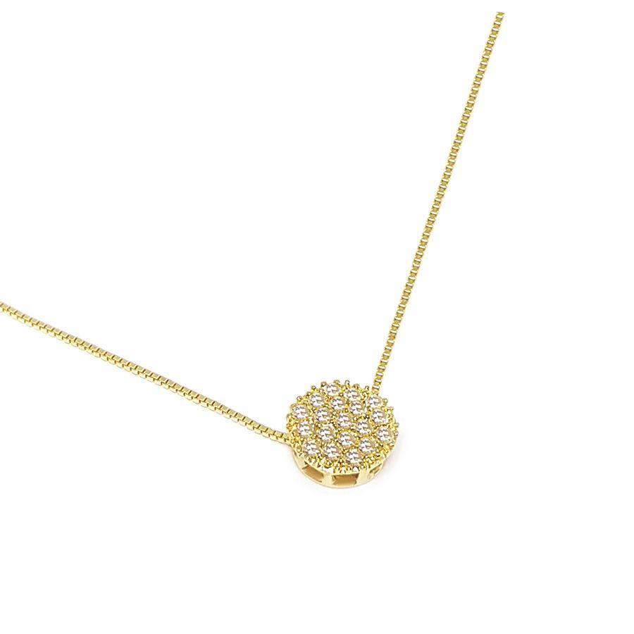 Corrente Com Pingente Ouro 18k com Diamantes