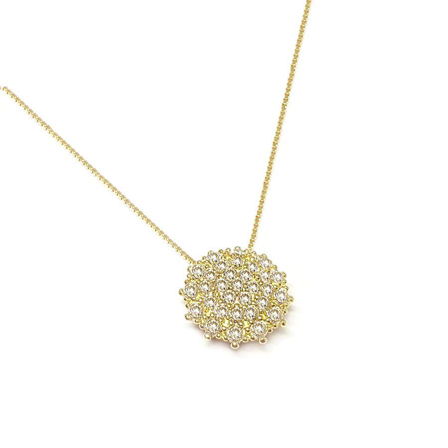Corrente Com Pingente Ouro 18k com Diamantes   - YVES