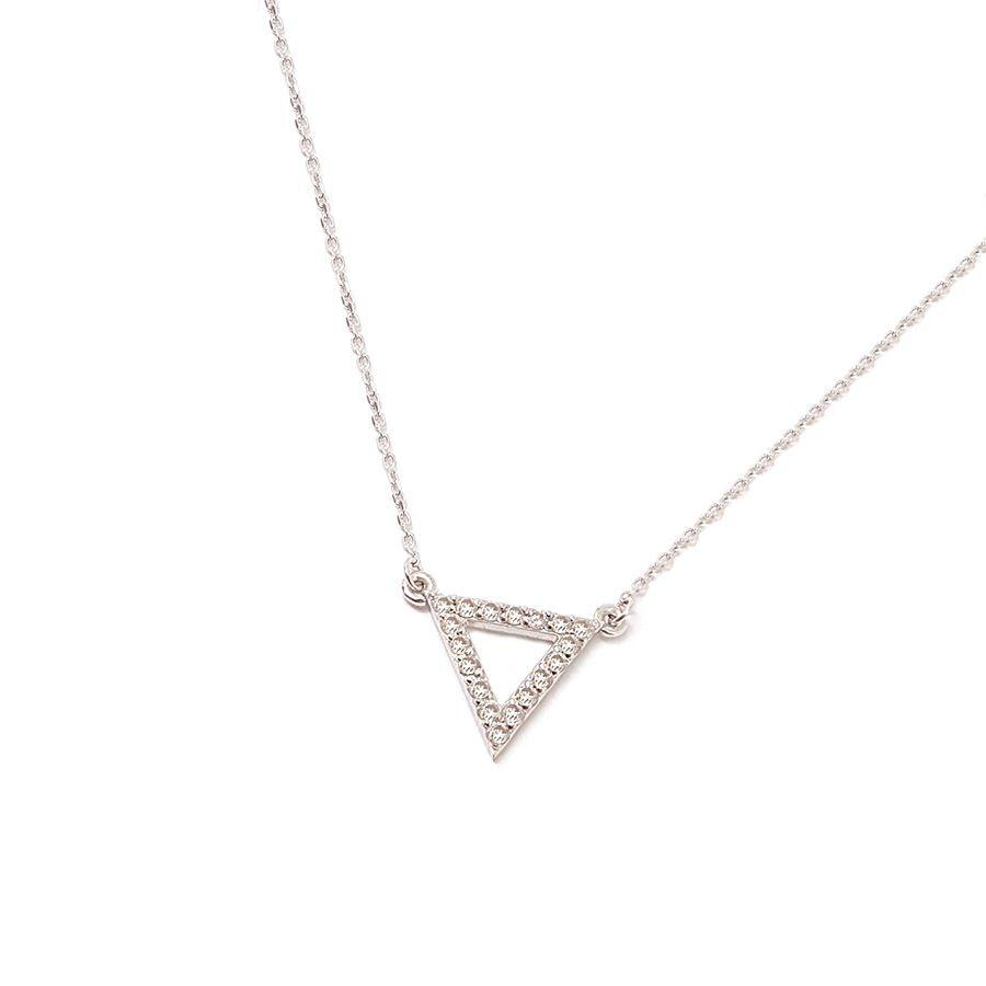 Gargantilha Ouro 18k Triangulo com Diamantes