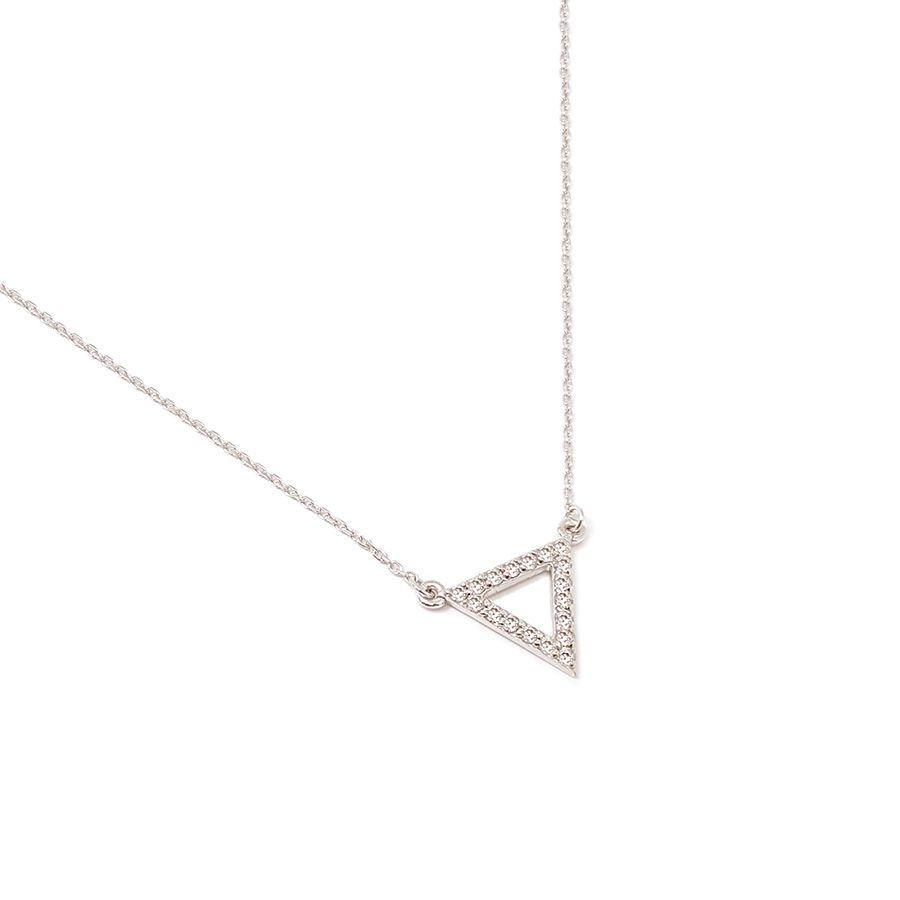 Gargantilha Ouro 18k Triangulo com Diamantes  - YVES