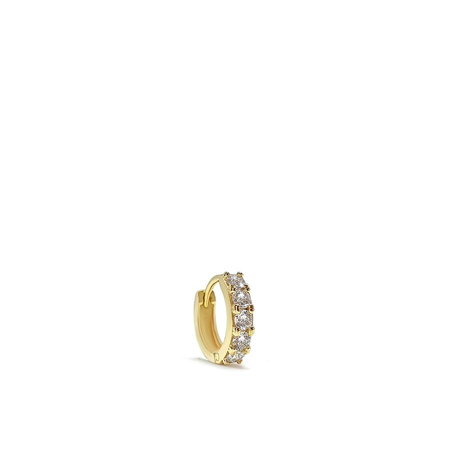 Piercing Argola Ouro 18k com 15 pontos em Diamantes