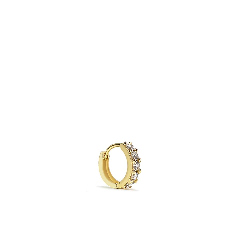 Piercing Argola Ouro 18k com 15 pontos em Diamantes  - YVES