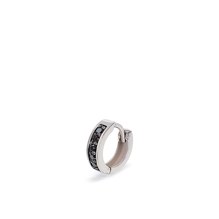 Piercing Argola Ouro 18k com 5 Diamantes Negro