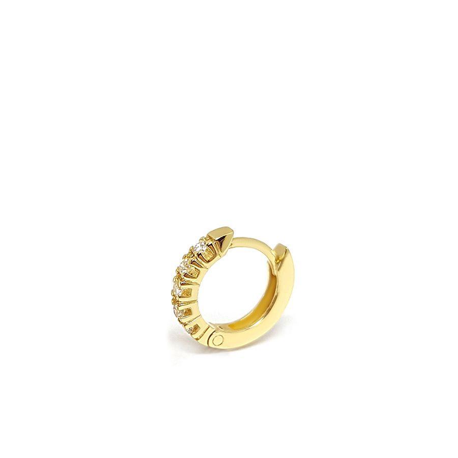 Piercing Argola Ouro 18k com 7,35 pontos em Diamantes