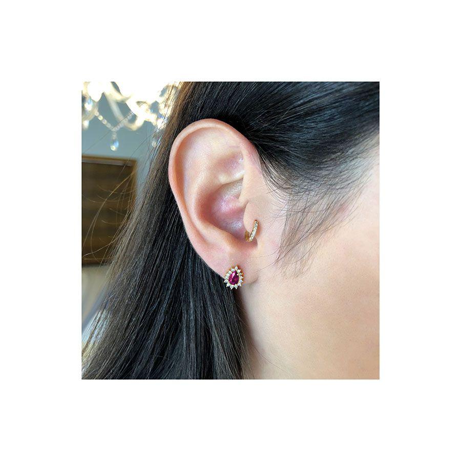 Piercing Argola Ouro 18k com Diamantes  - YVES