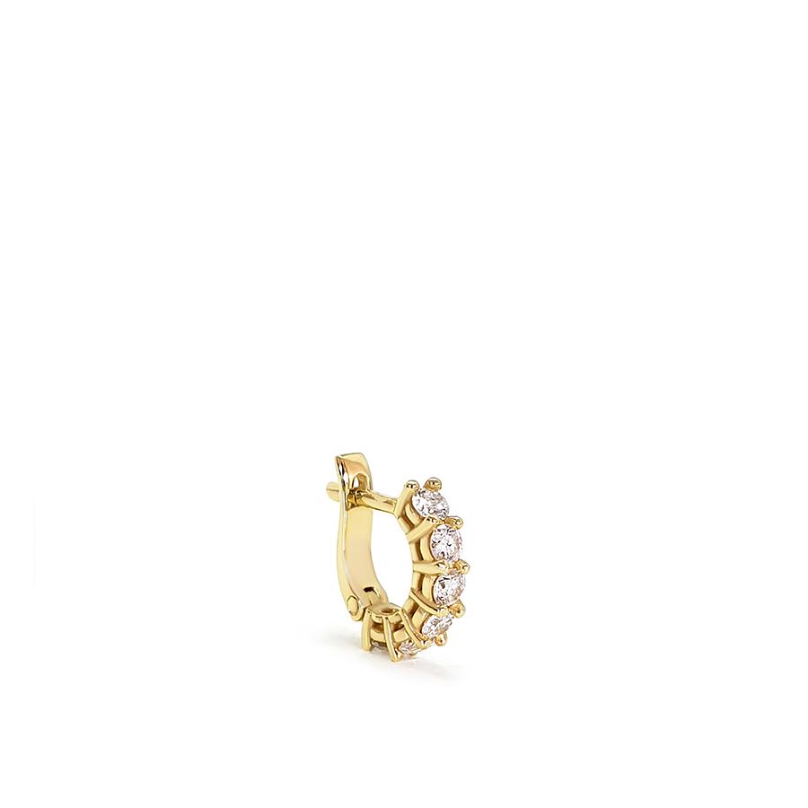 Piercing Argola Ouro 18k com Diamantes de 3 pontos