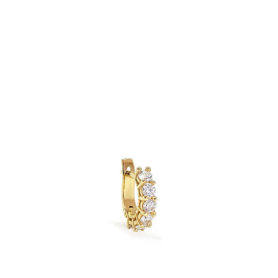 Piercing Argola Ouro 18k com Diamantes de 3 pontos  - YVES