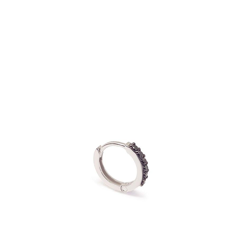 Piercing Argola Ouro 18k com Diamantes Negro