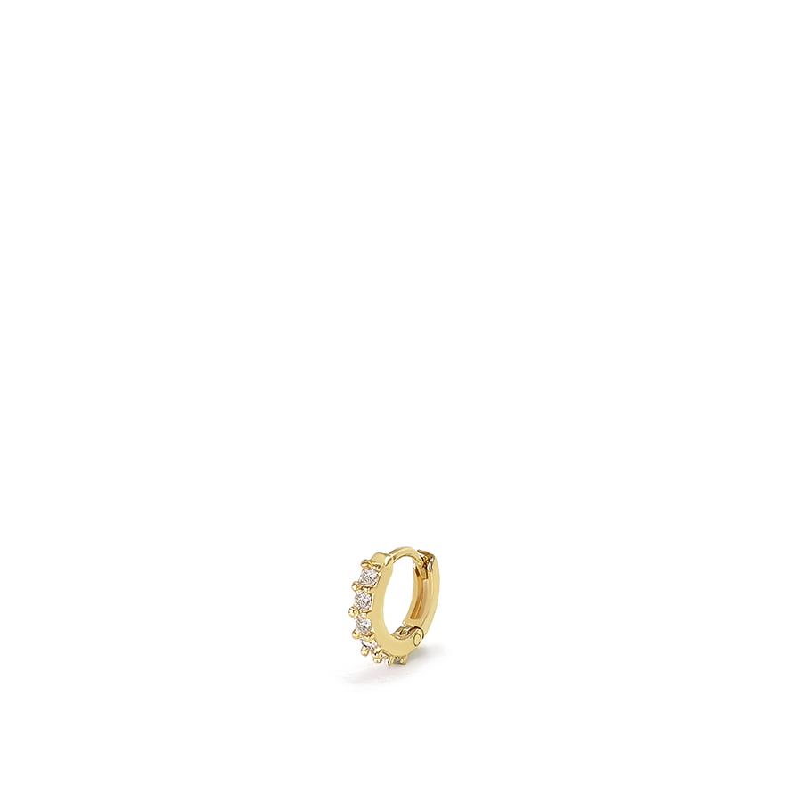 Piercing Argola Ouro 18k Mini com Diamantes  - YVES