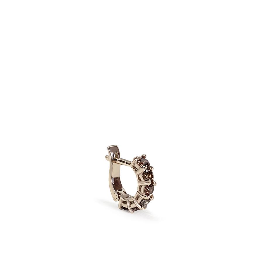 Piercing Argola Ouro Nobre 18k com Diamantes Chocolate de 3 pontos