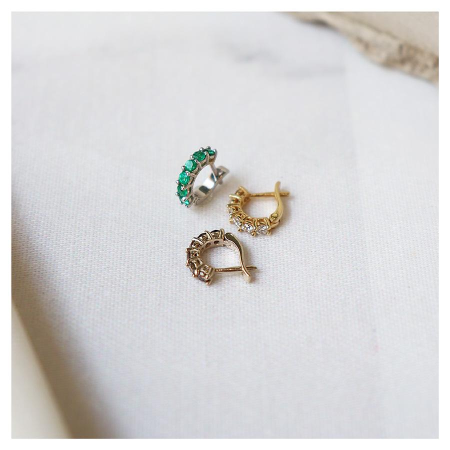 Piercing Argola Ouro Nobre 18k com Diamantes Chocolate de 3 pontos  - YVES