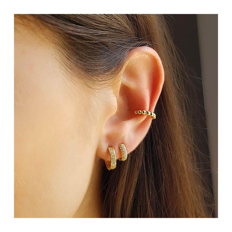 Piercing Fake Ouro 18k Bolinha  - YVES