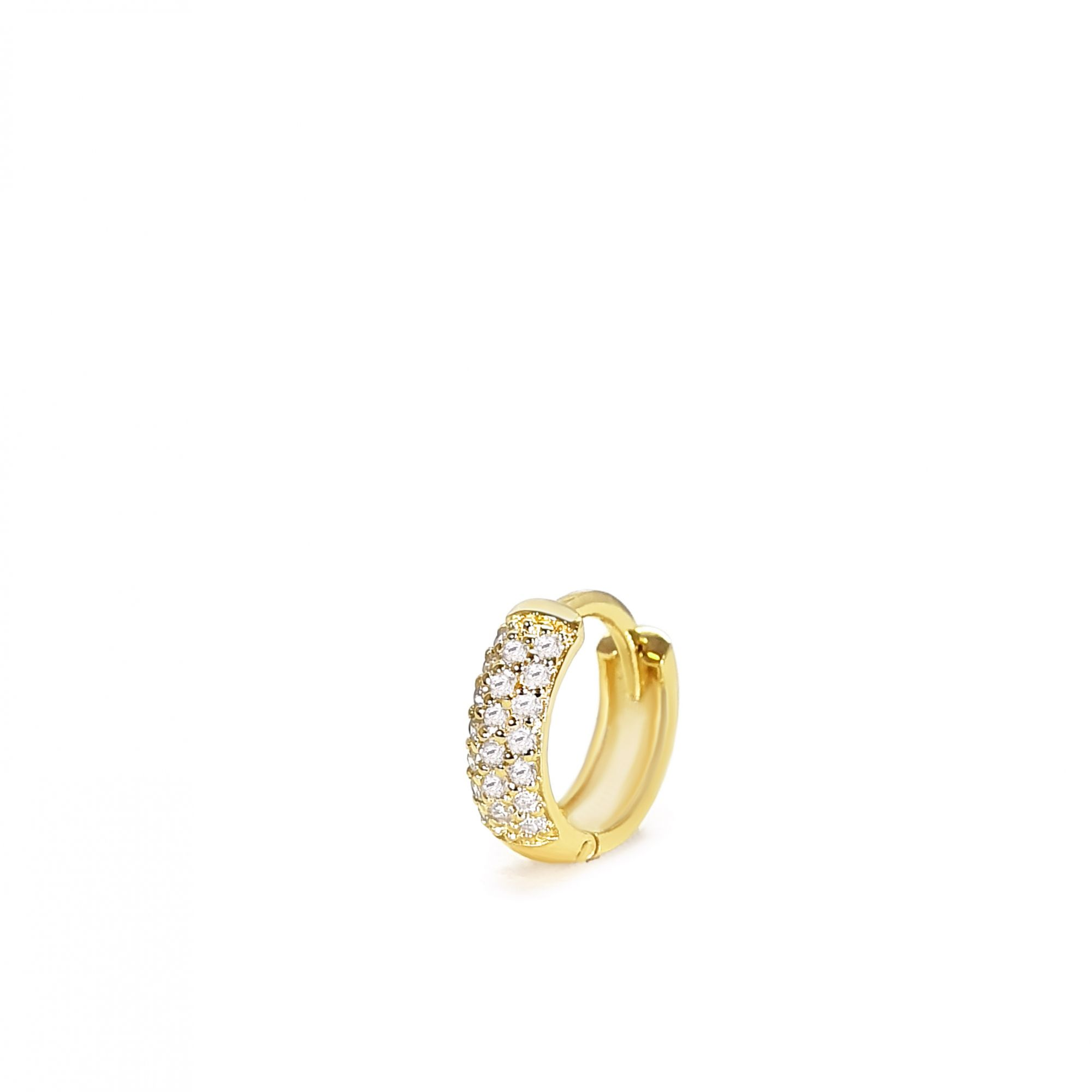 Piercing Ouro 18k Argola com Diamantes