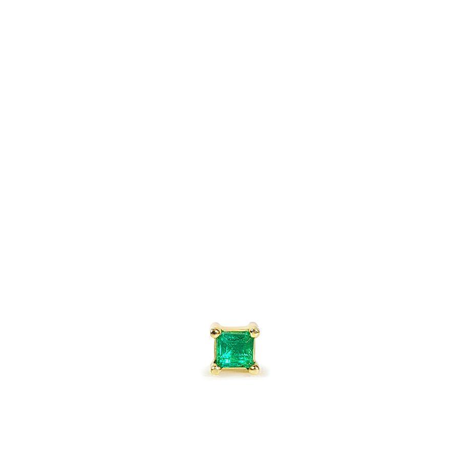 Piercing Ouro 18k com Esmeralda Quadrada  - YVES