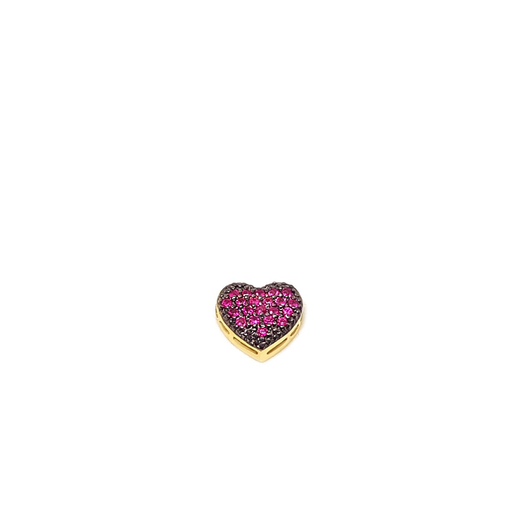 Pingente Coração Ouro 18k com Rubis  - YVES